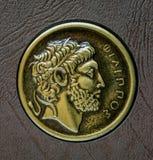 Een exemplaar van het oude Griekse muntstuk, Philip van Macedon, 3de eeuw Stock Foto's