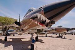 Een F-105G militair vliegtuig van Thunderchief Verenigde Staten royalty-vrije stock afbeeldingen