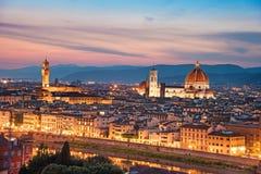 Een fabelachtig panorama van Florence van Michelangelo Square i stock afbeeldingen