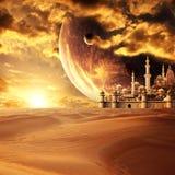 Een fabelachtige verloren stad in de woestijn stock fotografie