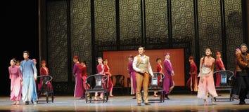Een familie de vergadering-tweede handeling van de gebeurtenissen van dans drama-Shawan van het verleden Royalty-vrije Stock Afbeelding