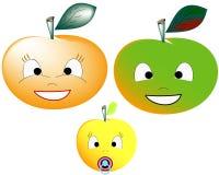 Een familie van appelenillustratie Royalty-vrije Stock Foto's