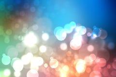 Een feestelijke abstracte multicolored Gelukkige Nieuwjaar of Kerstmisrug vector illustratie