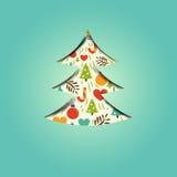 Een feestelijke Kerstmisboom vector illustratie