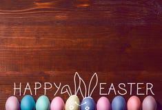 Een feestelijke Pasen-samenstelling Mening van hierboven concept de lente en het feest van de Pascha Royalty-vrije Stock Afbeelding