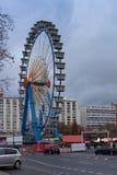 Een ferriswiel op Alexanderplatz stock afbeelding