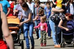 Een festival gewijd aan Victory Day in Irkoetsk stock afbeeldingen