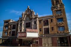 Een filmhuis dat met Moller-pijporgaan wordt uitgerust in Rockford stock afbeelding
