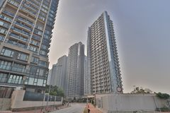 een flatgebouw in HK Huisvesting, metropool royalty-vrije stock fotografie