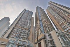 een flatgebouw in HK Huisvesting, metropool royalty-vrije stock foto's