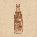 Een fles bier Stock Foto