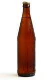 Een fles donker bier. royalty-vrije stock afbeelding