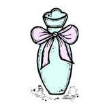 Een fles parfum voor meisjes, vrouwen Manier en schoonheid, tendens, aroma Stock Fotografie