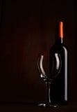 Een fles wijn Stock Foto
