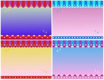 De Achtergronden van Shoppe van het suikergoed Royalty-vrije Stock Afbeeldingen