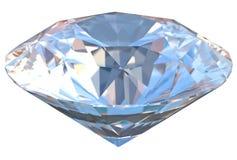 Een fonkelende blauwe diamanthalfedelsteen Stock Afbeeldingen