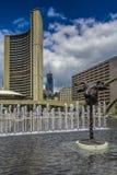 Een fontein binnen de stad in Royalty-vrije Stock Foto