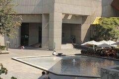Een fontein in MUAC, Mexico-City royalty-vrije stock fotografie