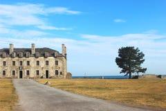 Een fort en een boom Stock Fotografie