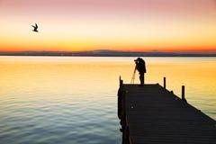 Een foto op het meer stock afbeeldingen