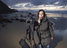 Een foto op het strand Royalty-vrije Stock Foto's
