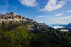 Een foto van een berg Stock Afbeelding