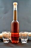 De fles van de likeur Royalty-vrije Stock Afbeeldingen