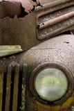 Een foto van een oude vrachtwagen Stock Afbeeldingen