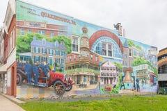 Een foto van een typische kleine stadshoofdstraat in de Verenigde Staten van Amerika Stock Afbeeldingen