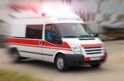 Een foto van een ziekenwagen royalty-vrije stock afbeeldingen