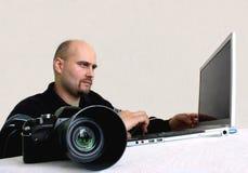 Een fotograaf   Royalty-vrije Stock Fotografie