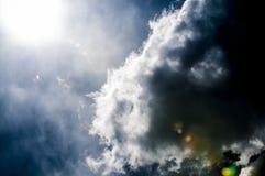 Een fotografie van zonstralen Stock Afbeelding