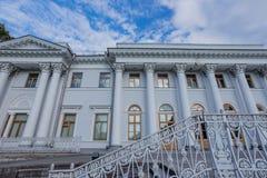 Een fragment van een architecturale structuur in de stad van St. Petersburg stock afbeelding