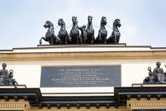 Een fragment van de Boog DE Triomphe in Moskou Stock Fotografie