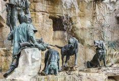 Een fragment van de fontein stock afbeeldingen