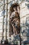 Een fragment van de poort van Petrovsky Peter Het standbeeld Stock Foto