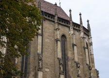 Een fragment van de Zwarte die Kerk, in de Gotische die stijl wordt gebouwd en na de donkere kleur wordt genoemd ging na de brand Royalty-vrije Stock Afbeeldingen