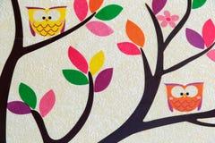 Een fragment van een decoratief paneel op de muur Royalty-vrije Stock Foto