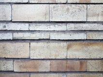 Een fragment van een oude bakstenen muur van witte en roze kleur voor een achtergrondtextuur Stock Afbeelding