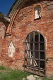 Een fragment van Kerk van de Transfiguratie van onze Verlosser op Kovalyovo, Rusland royalty-vrije stock foto's