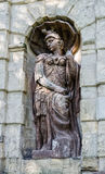 Een fragment van Petrovsky & x28; Peter& x27; s& x29; poort Het standbeeld Stock Afbeelding