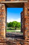 Een frame van Wat Phra Sri Sanphet van Ayutthaya Stock Afbeelding