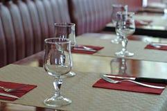 In een Frans restaurant Stock Foto