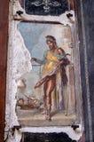 Een Fresko onder de Ruïnes van Pompei stock foto