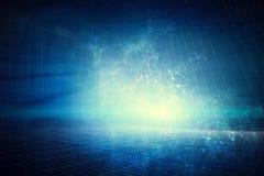 Een futuristische blauwe digitale achtergrond royalty-vrije stock foto