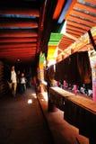 Een gang in een Tibetaanse boeddhistische tempel Royalty-vrije Stock Afbeelding