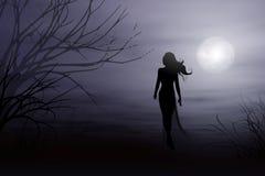 Een gang in het Maanlicht stock illustratie