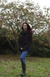Een gang in het park in de Herfst Stock Fotografie