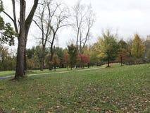 Een gang in het park in vroege daling Royalty-vrije Stock Afbeelding