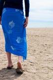 Een gang op het strand Royalty-vrije Stock Afbeelding